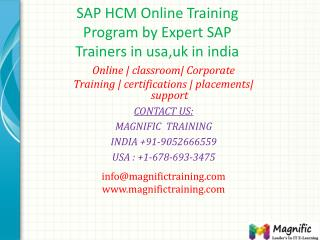SAP HCM Online Training Program by Expert SAP Trainers in us