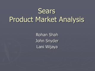 Sears Product Market Analysis