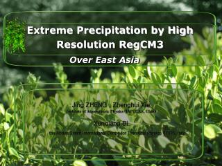 Extreme Precipitation by High Resolution RegCM3