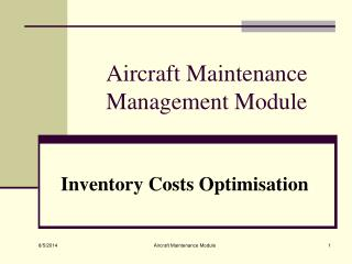 Aircraft Maintenance Management Module