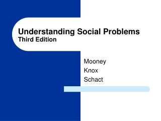 Understanding Social Problems Third Edition