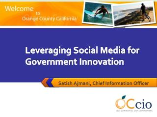 Leveraging Social Media for Government Innovation