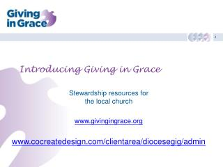 Introducing Giving in Grace