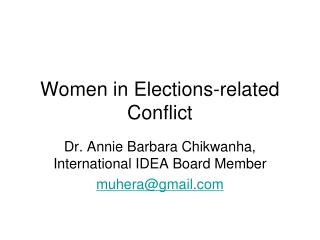 Women in Elections-related Conflict