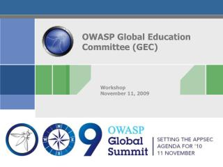OWASP Global Education Committee (GEC)