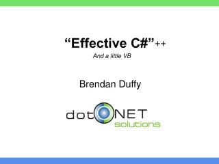 """""""Effective C#"""""""