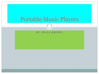 Portable Music Players