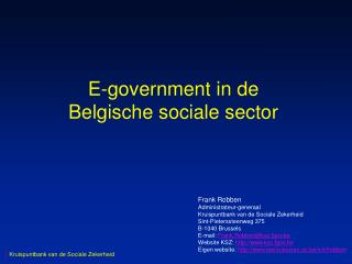E-government in de Belgische sociale sector