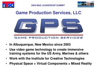 Game Production Services, LLC