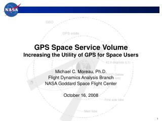 GPS Space Service Volume Increasing the Utility of GPS for Space Users