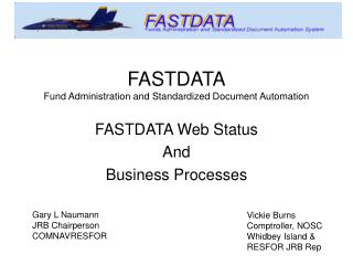 FASTDATA Fund Administration and Standardized Document Automation