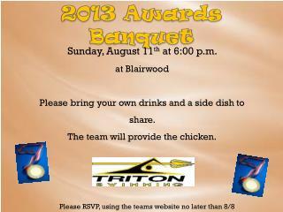 2013 Awards Banquet