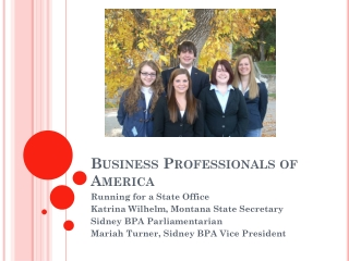 BUSINESS PROFESSIONALS OF AMERICA