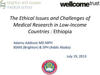 The Ethical Issues and Challenges of Medical Research in Low-Income  Countries :  Ethiopia