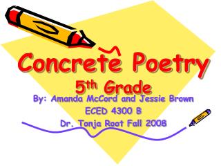 Concrete Poetry 5 th  Grade