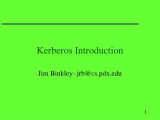 Kerberos Introduction