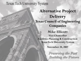 Alternative Project Delivery Texas Council of Engineering Companies