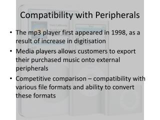 Compatibility with Peripherals