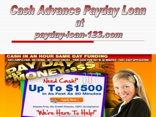 Cash Advance Payday Loan
