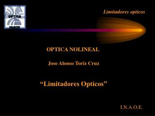 Limitadores opticos