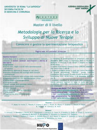 Metodologie per la Ricerca e lo Sviluppo di Nuove Terapie