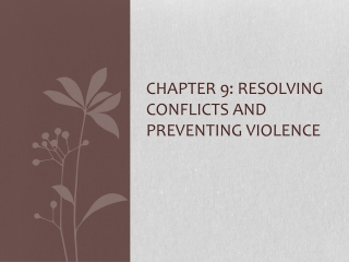 Chapter 9 - Violence