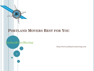 Portland Movers Best for You