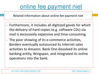 Ideas to acquire the most effective online fee payment  niet