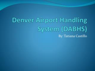 Denver Airport Handling System (DABHS)