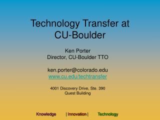 Technology Transfer at CU-Boulder