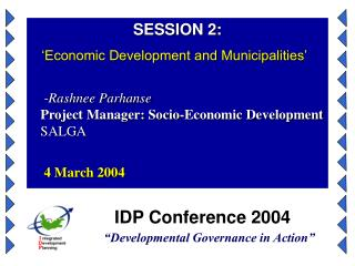 IDP Conference 2004  Developmental Governance in Action
