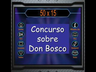 Concurso sobre  Don Bosco