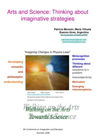 Arts and Science: Thinking about imaginative strategies