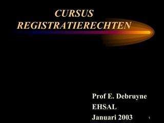 CURSUS REGISTRATIERECHTEN