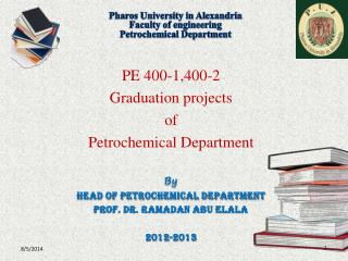 Pharos University in Alexandria Faculty of engineering Petrochemical Department