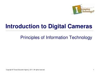 Introduction to Digital Cameras