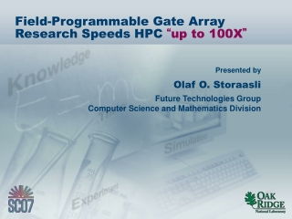 """Field-Programmable Gate Array Research Speeds HPC """" up to 100X """""""