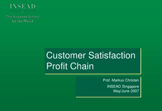 Customer Satisfaction Profit Chain