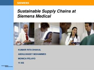 Sustainable Supply Chains at Siemens Medical