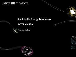 Sustainable  Energy  Technology INTERNSHIPS