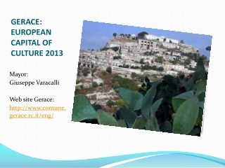 Candidature Gerace