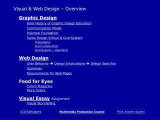 Visual & Web Design – Overview