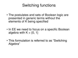 Switching functions