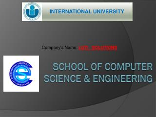 School Of Computer Science & Engineering