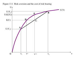 Figure 13.1  Risk aversion and the cost of risk bearing