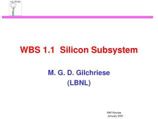 WBS 1.1  Silicon Subsystem