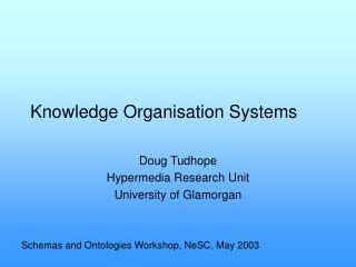 Knowledge Organisation Systems