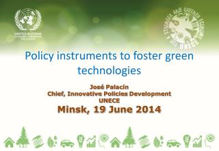 Policy instruments to foster green technologies