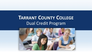 Tarrant County College Dual Credit Program