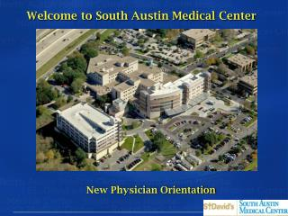 Welcome to South Austin Medical Center